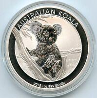 Australia 2015 Koala .999 Silver $1 Coin - Australian Dollar 1 oz bullion