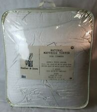 Feather&Loom White Goose Down & Feather Dual Chamber Mattress Topper