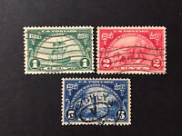 GandG US Stamps #614-616 Huguenot Walloon Set Used