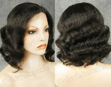 Black Body Wavy Lady Women Front Lace hair wig Big Curly 150% Density Lace wigs