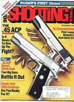 SHOOTING TIMES Magazine December 1990 The .45 ACP