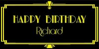 PERSONALISED BIRTHDAY BANNER AGE NAME ART DECO GREAT GATSBY  1920s