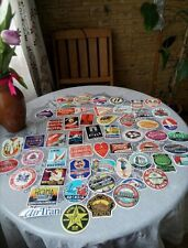 Lot of 50 Retro Vintage Travel Hotel Airline Skateboard Luggage Decal Stickers