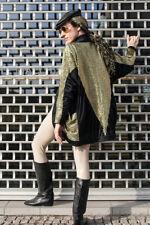 DAMEN Jacke gold schwarz TRUE VINTAGE 80s black gold jacket cardigan