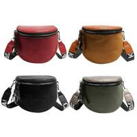 Fashion Crossbody Bag Women PU Leather Semicircle Shoulder Saddle Bags