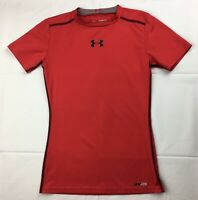 Under Armour Sonic Fitted Short Sleeve Fitted Shirt Youth Boys Medium Red