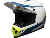 Casque Moto Cross BELL MX-9 MIPS TORCH Blanc / Bleu / Jaune