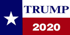Wholesale Lot of 6 Texas State Flag Trump 2020 Decal Bumper Sticker