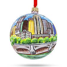 Melbourne, Australia Glass Ball Christmas Ornament 4 Inches