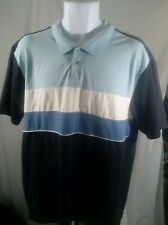 Men's Alfani Striped Stretch Cotton Short Sleeve Polo Shirt, Size XL. EUC