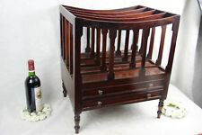 English Canterbury wood carved Magazine rack with drawers