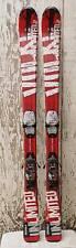 Nice Used Red White Black VOLKL UNLIMITED JR. 1300mm skis w Marker M4.5 Bindings