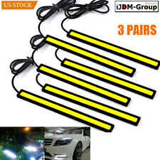 6× 12V Car Cob Led Chip Daytime Running Light Lamp White Bar Strips Super Bright