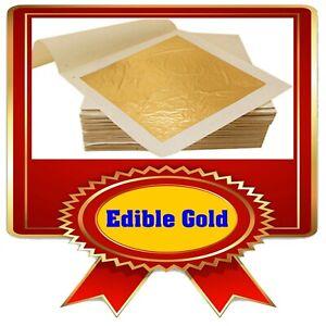 Edible Gold - Real 24K Gold Edible - 10x 4.33 cm x 4.33 cm Square Sheets