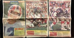 Vintage Buffalo Bills Buffalo News Posters - Lot of 3 Posters w/ Jim Kelly