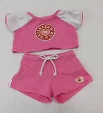Build A Bear Girls Clothes 2 PC Pink Cheerleading Outfit Top Shorts Cheer