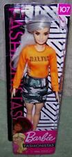 NEW 2018 / 19  Barbie  Fashionista Doll  #107 PLATINUM HAIR SHAVED SIDE