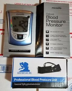 Microlife Deluxe Blood Pressure Monitor BP3NQ1-4W and blood pressure unit 2Items