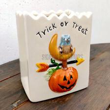 SAKURA PORCELAIN PAPER BAG vintage Halloween decoration ceramic candle candy vtg