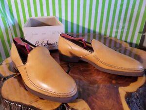 NOS Mens 9 W Bob Smart Drifter Golden Harvest Loafers Shoe Vtg 60s 70s  LEATHER
