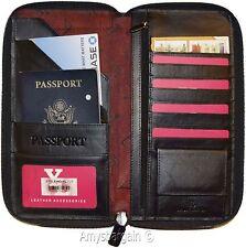 Organizer, Leather document case, passport ID airline ticket Credit card more BN