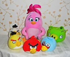 6xAngry Birds Soft Toys Bundle Includes Pink Stella-Not Sure Of Other Names!