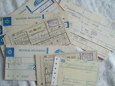 Alte DB Fahrkarten, Sitzplatzkarten, Zuschlagskarten 1981-1986