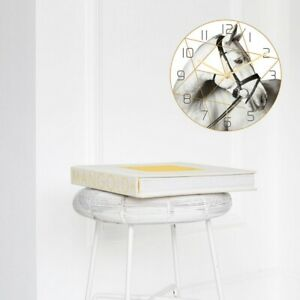 1pc Wall Clock Hanging Silent Decorative Clock without Battery for Store Home