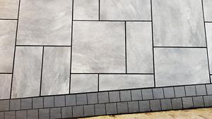 Storm Grey Vitrified Porcelain Paving Slabs Flags paver Mix Sizes Indian Stone