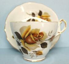 Regency Vintage Bone China Yellow Rose Tea Cup and Saucer England EUC