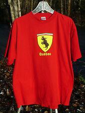 PRANCING MOOSE QUEBEC XL RED TEE SHIRT QUEBEC XL PRANCING MOOSE RED XL T SHIRT