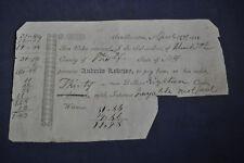 1811 Receipt for Andrew Lovejoy, Dry Good Store Sanbornton NH