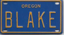 BLAKE Blue Oregon - Mini License Plate - Name Tag - Bicycle Plate!