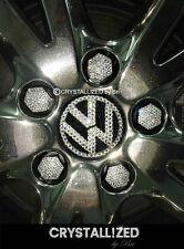 Volkswagen Wheel Center Rim Caps Bling Set of 4 NEW Made with Swarovski Crystals