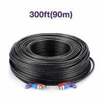 Loocam BNC Cable 300ft Extension Video Power BNC Wire Cord for Camera DVR