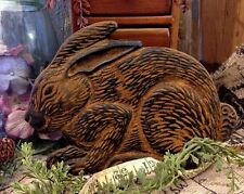 Bunny Blackened Beeswax Folk Art Ornament PRiMiTiVE Rabbit Cinnamon Scent Prim