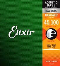 Elixir Nanoweb E14502 80/20 Bronzo Acustico Corde per basso Chitarra 45-100