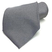 Tongue Tied Tom McLellon Necktie Checked Mens Tie 100% Silk Black White 58L