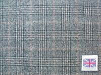 100% Pure Wool-Worsted Glen Check Suiting Fabric 3.5 m