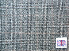 100% Pure Wool-Worsted Glen Check Suiting Fabric 2.5 m