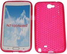 Custodia in gel Pattern protettore per Samsung Galaxy 2 GT Note N7100 N7105 Rosa