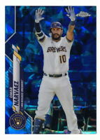 OMAR NARVAEZ 2020 TOPPS CHROME UPDATE SAPPHIRE #U-250 MILWAUKEE BREWERS
