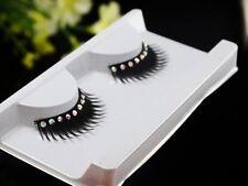 Thick False Eyelashes With Diamond Black Natural Handmade Makeup Beauty Tools