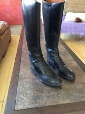 Womens Black Sz 6 Horse Riding Equestrian Leather Boots Dressage English USA