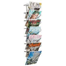 Wire Magazine Rack Storage Organizer Holder Wall Display Mount Books Newspaper