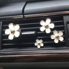 4pcs Daisy Flowers Car Air Conditioning Vent Clip Perfume Air Freshener Perfume