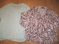 New womens plus size lot shirts tops 3X 3/4 sleeve blouses