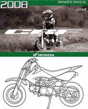 2008 HONDA CRF50F MOTORCYCLE OWNERS MANUAL -CRF 50 F-HONDA-CRF50-HONDA
