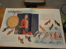 """1942 Red Cross Shoes Magazine Ad """"Today's American Woman"""""""