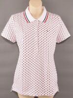 TOMMY HILFIGER Women's Star Print Design Heritage  Polo Shirt, Size MEDIUM